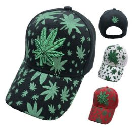 Embroidered/printed Marijuana Hat 36 pack