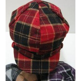 Ladies Newsboy HaT-Buffalo Plaid 144 pack