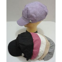 Newsboy HaT-Pastel Sparkle With Decorative Button