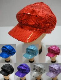 Sequin Newsboy Hats 24 pack