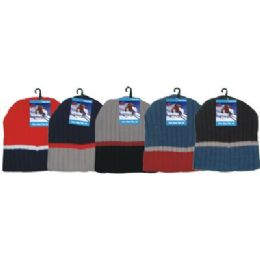Winter 3 Tone Beanie Hat 144 pack