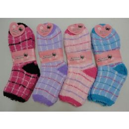 Fuzzy Socks 9-11 [plaid] 240 pack