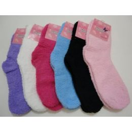 Fuzzy Socks 9-11 [solid Color]