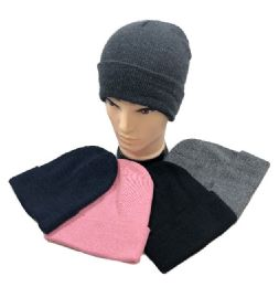Winter Toboggan Hat Assorted Colors 24 pack