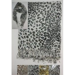 Scarf With FringE--Animal Print 72 pack