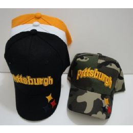 Child's Pittsburgh Hat [stars On Bill] 72 pack