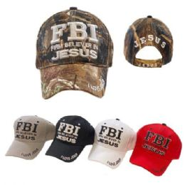 Baseball Hats Fbi Firm Believe In Jesus Hats 24 pack