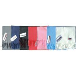 Fleece Winter Scarf Solid Colors Assorted 48 pack
