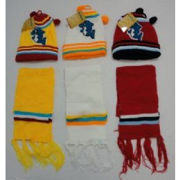 Baby Knit Cap With ScarF--Dolphins