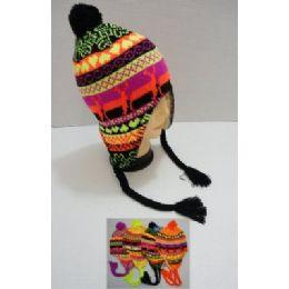 Helmet Hat Knit Design Neon 144 pack