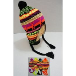 Helmet Hat Knit Design Neon