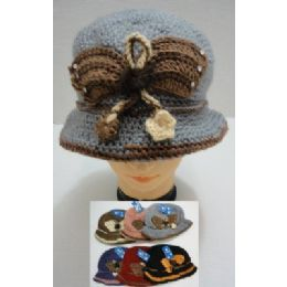 Hand Knitted Fashion HaT--Butterfly 96 pack