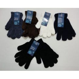 Ladies Chenille GloveS--Solid Color
