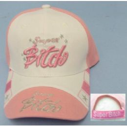 Super Bitch Hat [super Bitch On Bill] 24 pack