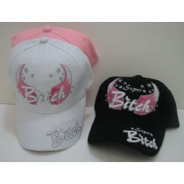 Super Bitch With Wings Hat 24 pack