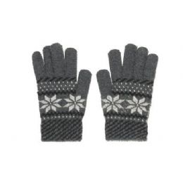 Snow Flake Knit Glove One Size Fits All , Assorted Colors