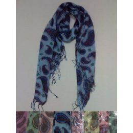 Scarf With FringE--Lg Paisley 72 pack