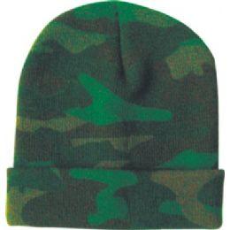 Camo Design Ski Hat Asst Colors 48 pack