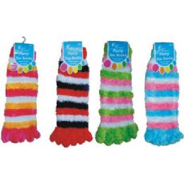 Furry Toe Sock Strip 96 pack