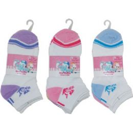 3 Pack Of Girls Ankle Sock Size 6-8 72 pack