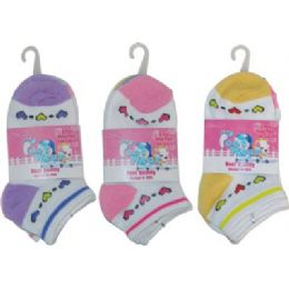 3 Pack Of Girls Ankle Sock Size 4-6