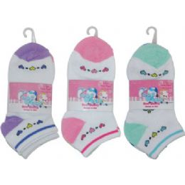 3 Pack Of Girls Ankle Sock Size 6-8