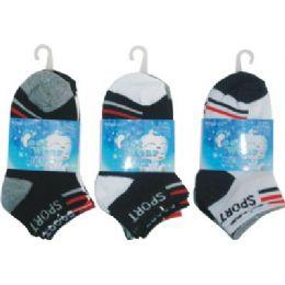 3 Pack Boys Sport Sock Size 4-6 72 pack