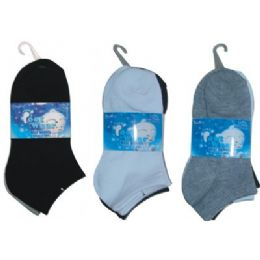 3 Pair Solid Ankle Sock For Kids Size 6-8