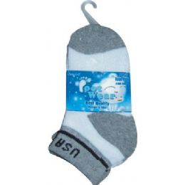 3 Pair Solid Cotton Ankle Sock For Kids Size 4-6 Usa 72 pack