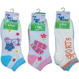 2 Pack Of Ladies Ankle Sock Size 9-11 144 pack