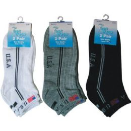 Ladies 2 Pair Pack 9-11 Sport Ankle Sock 144 pack