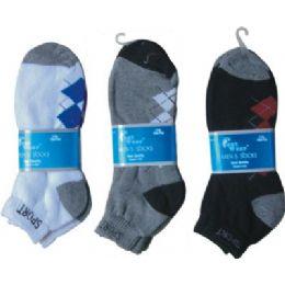 2 Pair Mens Argyle Ankle Sock 9-11 144 pack