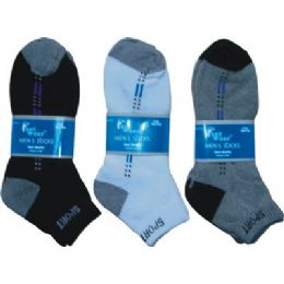2 Pair Pack Mens Ankle Sock Size 9-11 144 pack