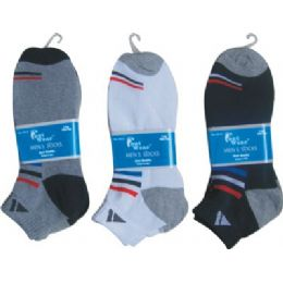 Mens 2 Pair Ankle Sport Ankle Sock Size 10-13