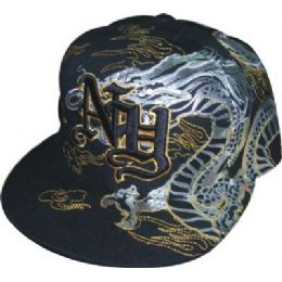 Flat Fitted Baseball Cap With Ny Design