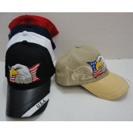Usa Eagle Hat [leathery Bill] 24 pack