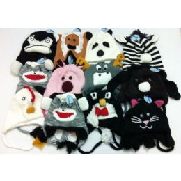 Knit Animal Hats 48 pack