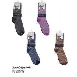 Womans Trendy Crew Sock 120 pack