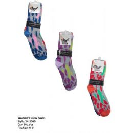 Womans Trendy Crew Sock 120 pack