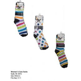 Womans Trendy Crew Sock