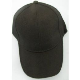 Solid Black Baseball Cap 72 pack