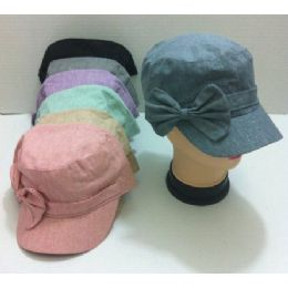 Newsboy Hat With Large Bow