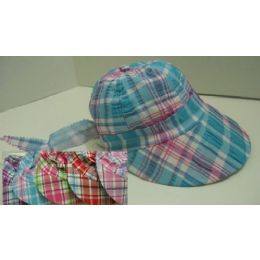 Child's Plaid Sun Bonnet