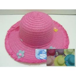 Girls Sun Bonnet With Fringe And Flowers