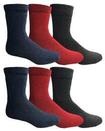 Yacht & Smith Womens Winter Thermal Crew Socks Size 9-11 6 pack