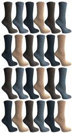 Socksnbulk Womens Dress Crew Socks, Bulk Pack Assorted Chic Socks Size 9-11