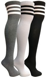 Yacht & Smith Womens Over The Knee Referee Thigh High Boot Socks