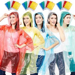 Yacht & Smith Unisex One Size Reusable Rain Poncho Assorted Colors 60g pe