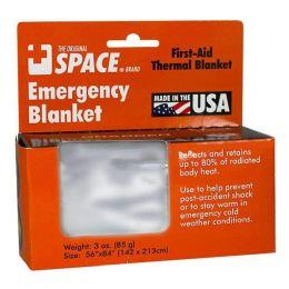 Emergency Blanket - Space Brand Emergency Blanket 56 Inch X 84 Inch