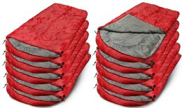 Yacht & Smith Temperature Rated 72x30 Sleeping Bag Solid Red